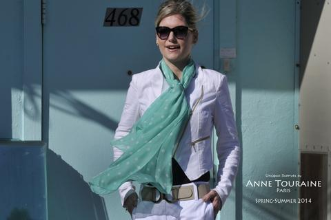HOW TO TIE AND WEAR OBLONG SCARVES - ANNE TOURAINE Paris™ Scarves .