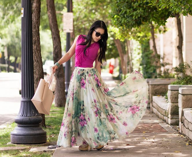 Long Flowy Skirt Outfit Ideas for Ladies – kadininmodasi.org in .