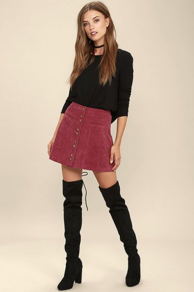 How to Style Corduroy Mini Skirt: Top 15 Outfit Ideas for Ladies .