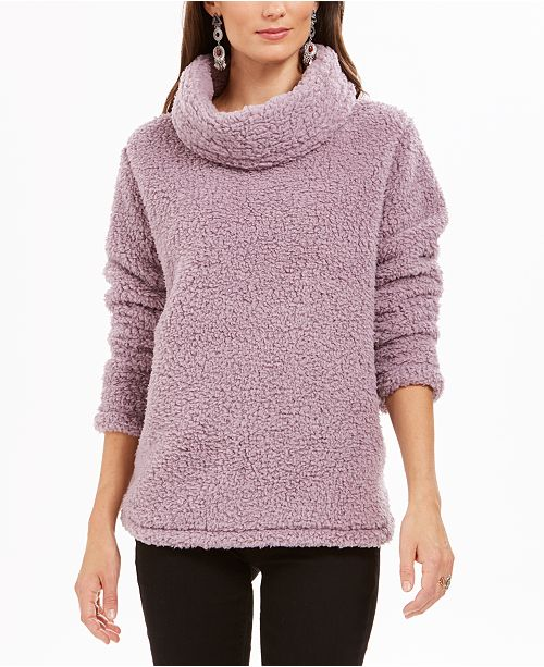 Style & Co Sherpa Cowl-Neck Sweater, Created for Macy's & Reviews .