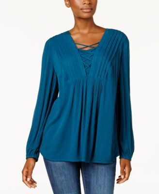 Style & Co Criss-Cross Top, Created for Macy's & Reviews - Tops .