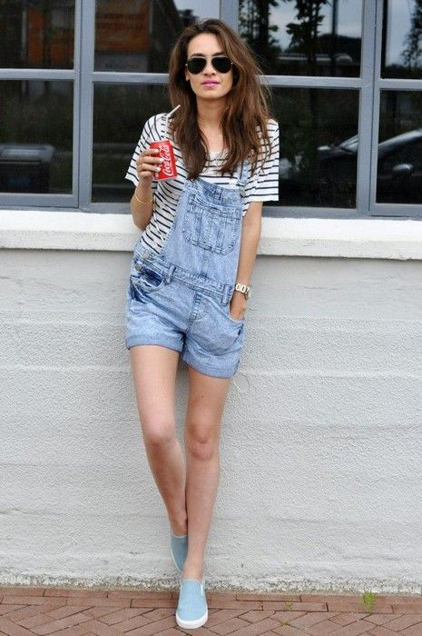 How to wear Overalls Glamsugar.com Outfit with Overalls | Fashion .
