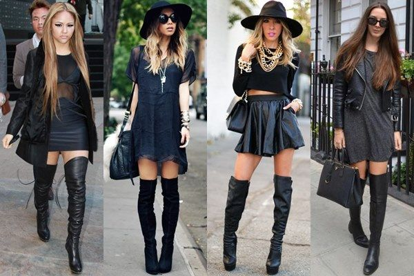 Black Thigh High Boots Outfits | How to Wear Boots in Various .