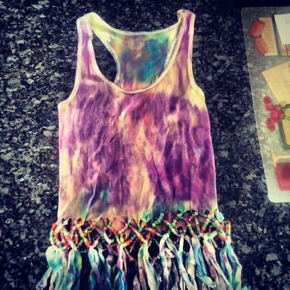 Pin by Jessica Beoletto on My Style | Beaded fringe shirt, Tie dye .