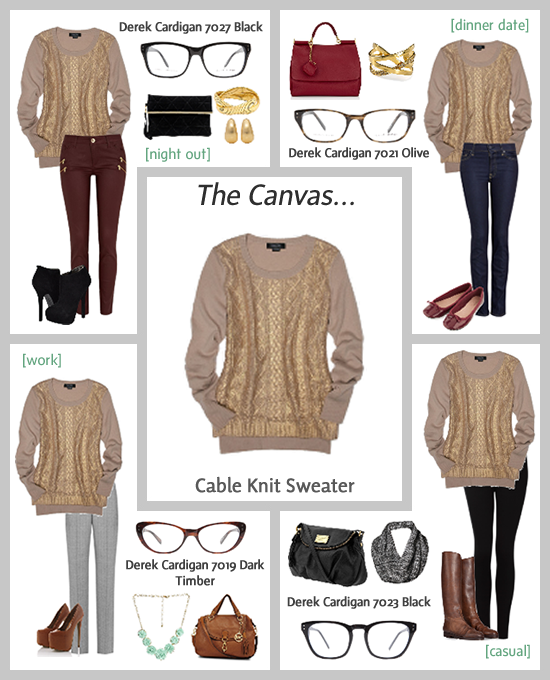 Cable Knit Sweater | Clearly Blog - Eye Care & Eyewear Tren