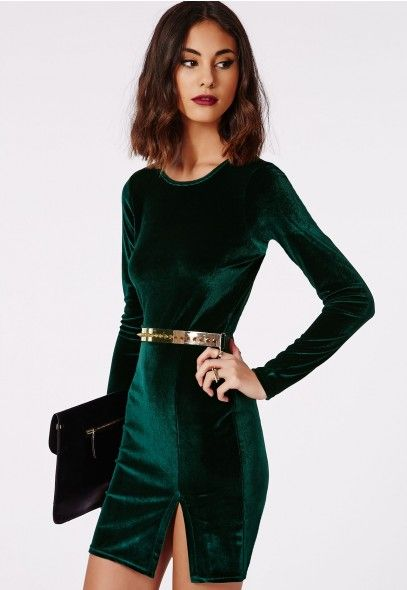 How to wear a green velvet dress - howto-wear.c