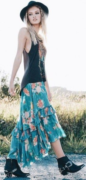 How to Style Gypsy Skirt: Best 15 Breezy & Attractive Outfit Ideas .