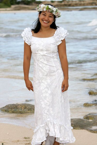 Hawaiian Wedding Dresses | Hawaiian wedding dress, Traditional .