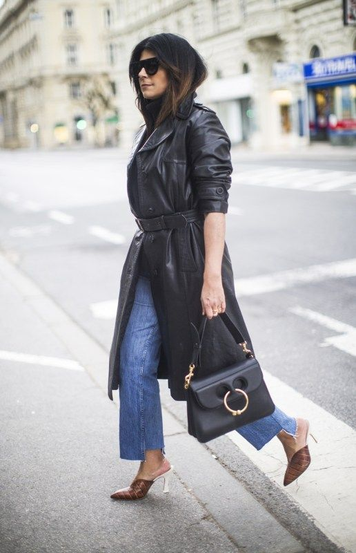 Outfit | Where To Find The Perfect Leather Trench Coat On A Budget .