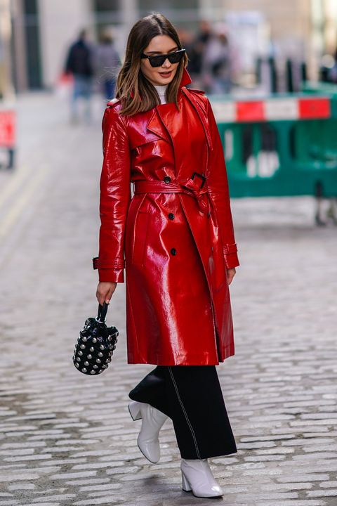 How to wear a patent trench coat – Best leather trench coats to .