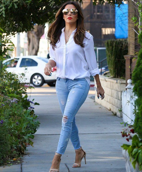 How to Style Light Blue Jeans: 13 Casual & Breezy Outfits for .