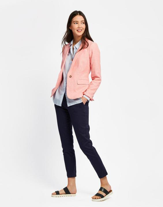 How to Style Linen Blazer: 15 Smart Casual Outfit Ideas for Ladies .