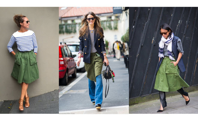 Get the look: A utility khaki skirt. – The FiFi Repo
