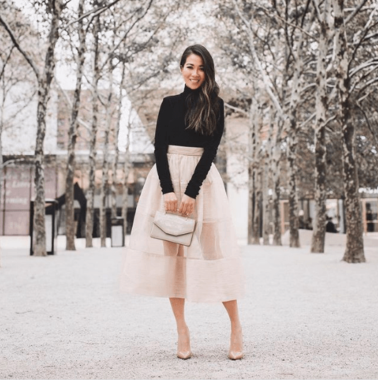 Outfits with Sheer Skirts- 29 Ideas How to Wear Sheer Skir
