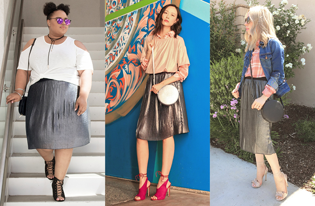 How To: Wear A Metallic Skirt | The Style Ed