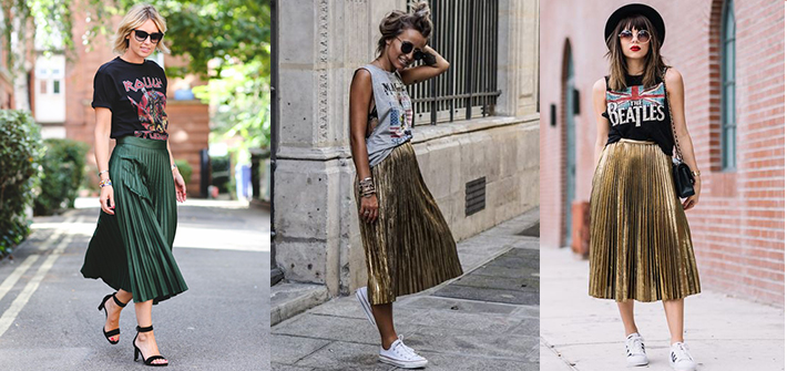 Planning To Buy A Metallic Pleated Skirt? Here's How To Style