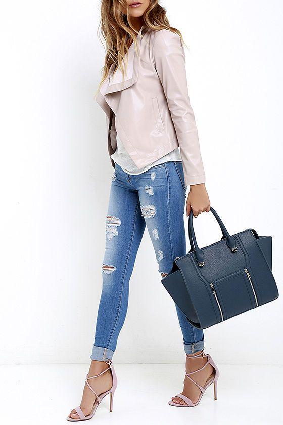 Wing-Woman Navy Blue Handbag | Navy blue handbags, Black vegan .