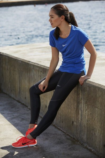 How to Style Nike Running Tights: Best 13 Sporty Outfit Ideas for .