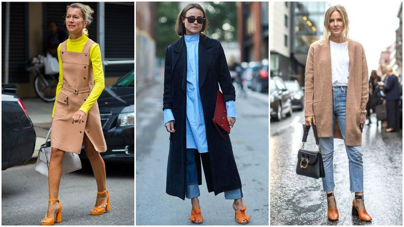 What to Wear With Every Shoe Colour | Orange shoes outfit, Orange .