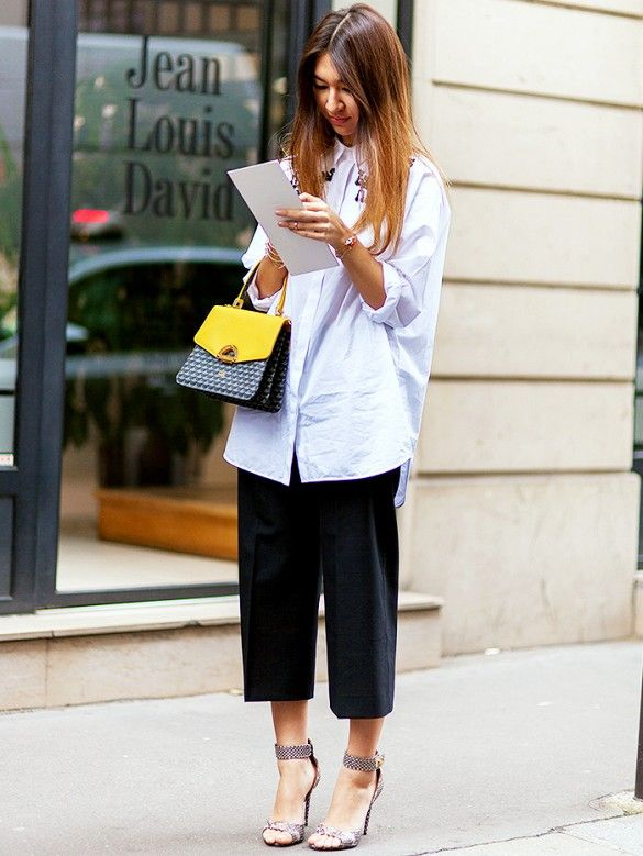 Tip Of The Day: What To Wear With An Oversized Shirt | White shirt .