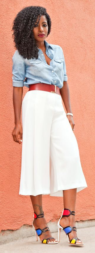 Pleated Culottes Styling | How to style culottes, Fashion, Style .