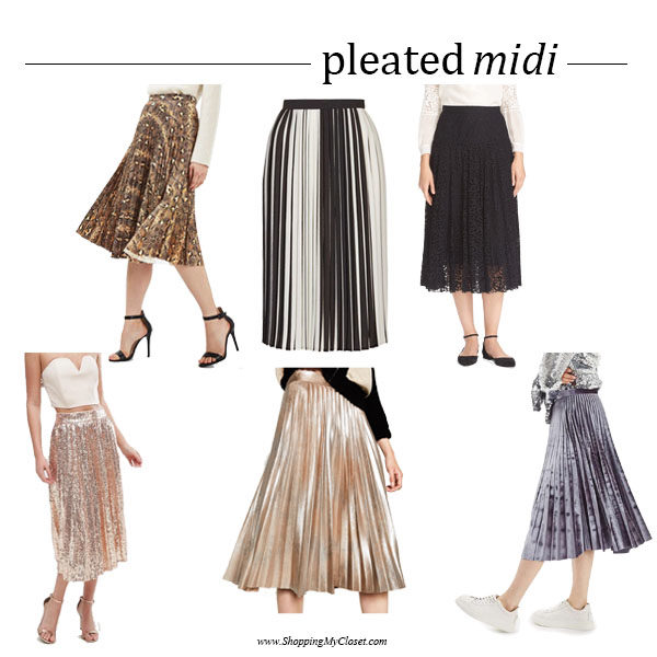 Style: pleated midi skirts | SHOPPINGMYCLOSET.c