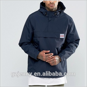 Custom Thick Thermal Pullover Style Man Outdoor Jacket With Ho