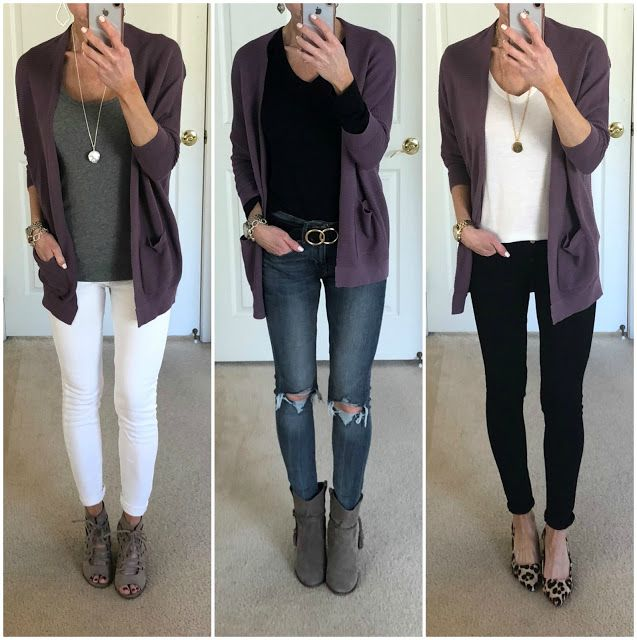 Three Ways to Wear a Purple Cardigan (On the Daily E X P R E S S .