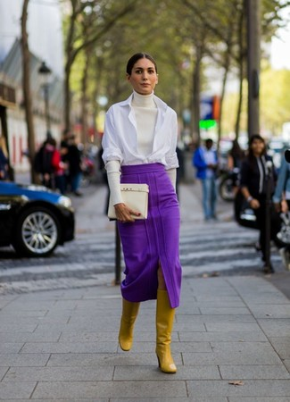 Purple Skirt Outfits (30 ideas & outfits) | Lookast