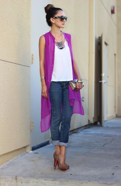 How to Style Purple Vest: 15 Attractive Outfit Ideas for Ladies .