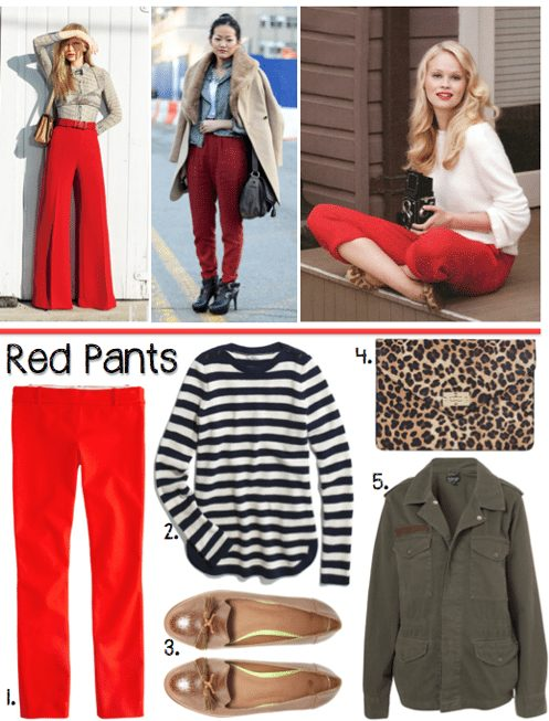 How To Style Red Pants for Winter - Poor Little It Gi