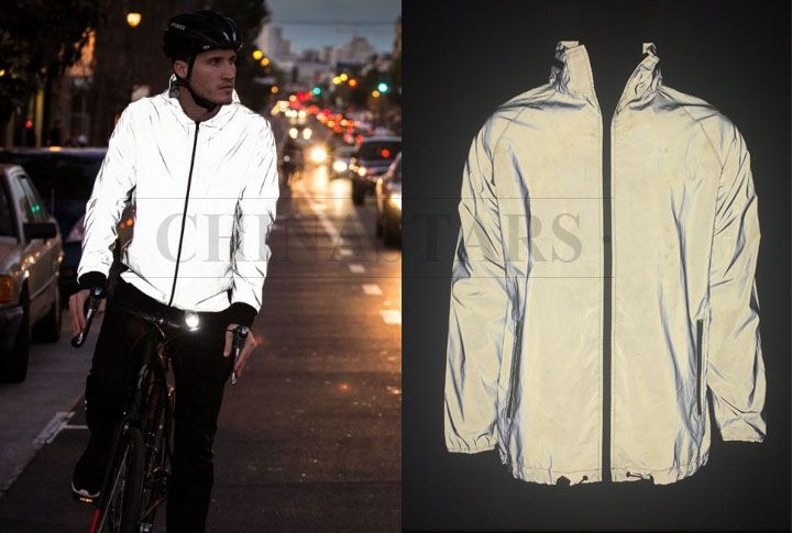 The new style reflective jacket is made by outer shell reflective .