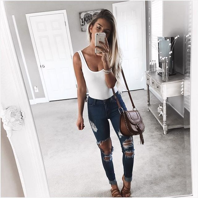 44 Stylish Ripped Skinny Jeans Outfits That Will Impress You .