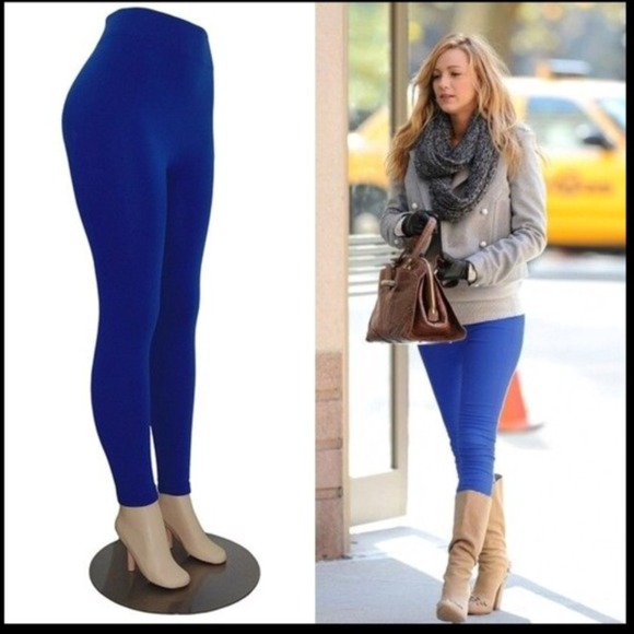 Pants & Jumpsuits | New Celeb Style Royal Blue Fleece Lined .