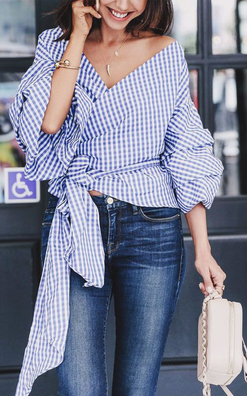 25 Stylish Ruffle Top Outfits to Rock This Summer | Ruffle tops .