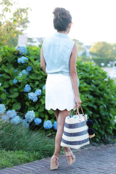 How to Style Scallop Skirt: 15 Chic & Refreshing Outfits | Fashion .