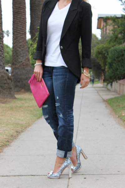 How to Style Silver Sparkly Heels: Top 14 Outfit Ideas - FMag.c