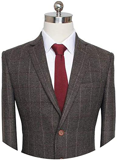 Custom Made Dark Brown British Style Mens Suit Tailor Slim fit .