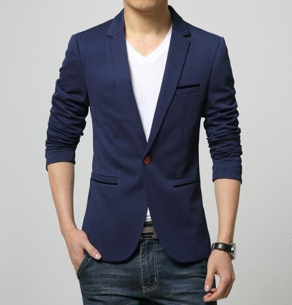 Korean Style Slim Fit Men's Blazer Suit Fashion Jacket | Slim fit .