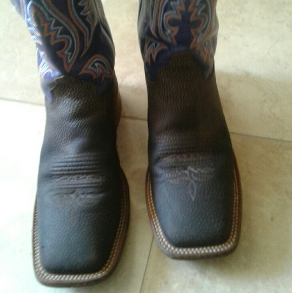 Justin Boots Shoes | Mens Justin Square Toe Boots 85d Style Br 312 .