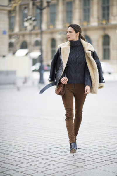 How to Style Suede Leggings: 15 Top Outfit Ideas - FMag.c
