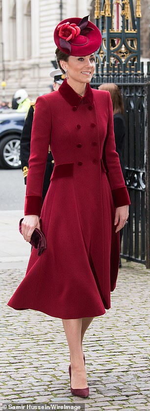 Kate Middleton recycles coat dress for Commonwealth Service .