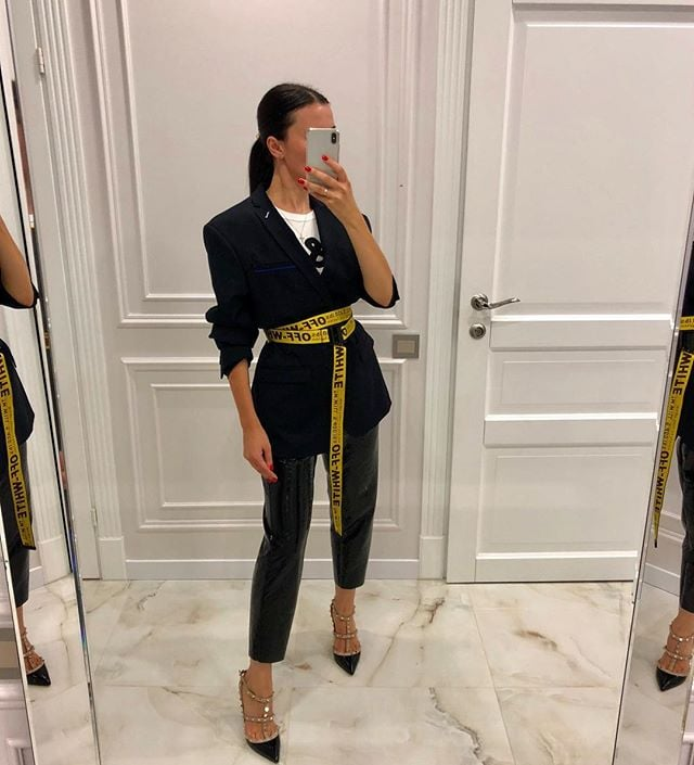How to Actually Wear That Super-Trendy Off-White Belt | POPSUGAR .