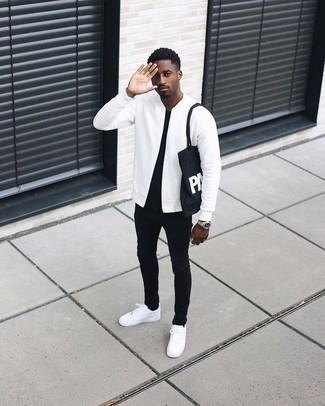 White Bomber Jacket Outfits For Men (29 ideas & outfits) | Lookast