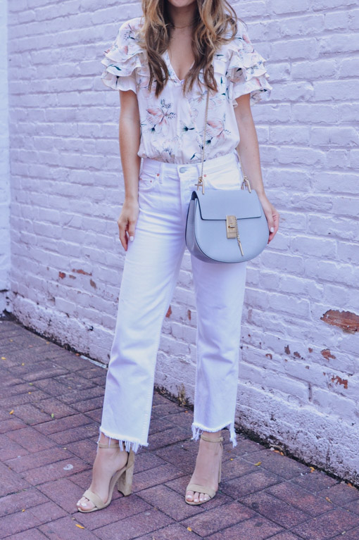 White Cropped Jeans Outfit - Oh So Gl