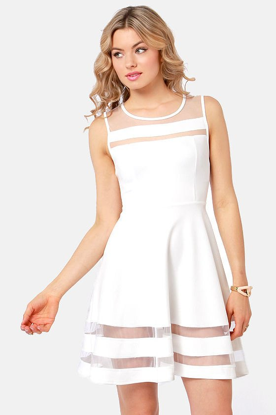 How to Style White Mesh Dress: Top 14 Outfit Ideas - FMag.c