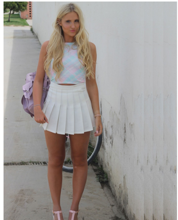 pleated mini skirt outfit > Up to 77% OFF > In sto