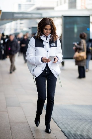 White Puffer Jacket Outfits For Women (9 ideas & outfits) | Lookast