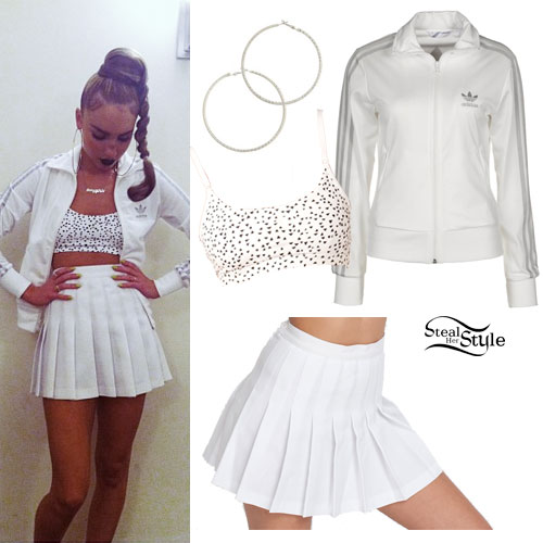 My Name Is Kay: White Tennis Skirt Outfit | Steal Her Sty