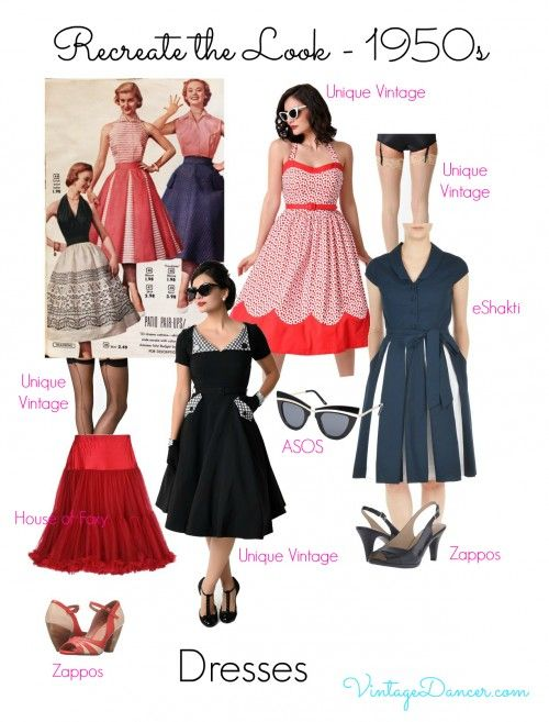 1950s Inspired Fashion: Recreate the Look   1950s inspired fashion .